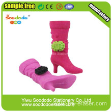 colorful Fashion purple boots Shaped Eraser