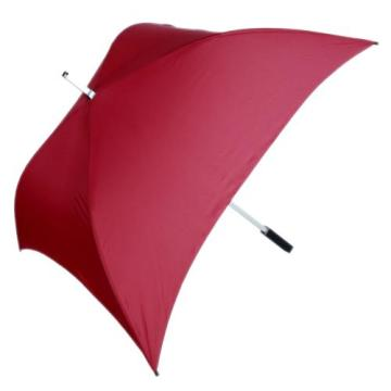 Low Cost for Double Layers Golf Umbrella 28''Manual Advertising golf fiber square umbrellas export to Italy Exporter