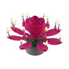 Catorce velas rotatorias multicolor flor vela
