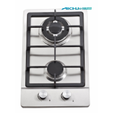 2 Burners Stainless Steel Gas Hob