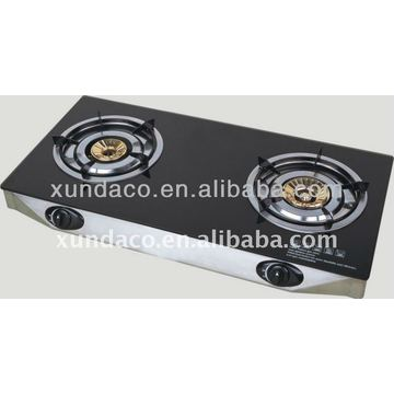 2 Burners Tempered Glass Panel Gas Stove