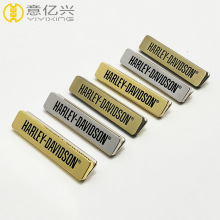 wholesale branded metal handbag tag logo