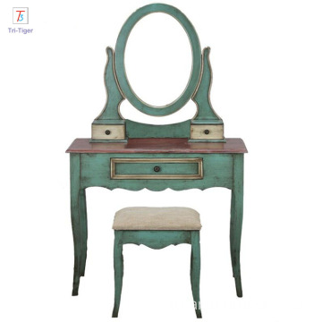 Factory Mediterranean Design Antique Girls Dressing Table
