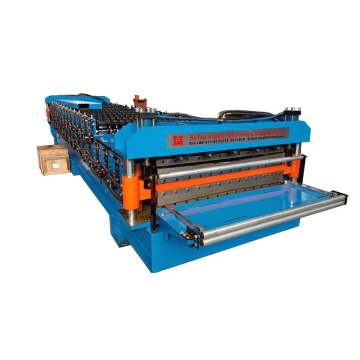 Double Layer Forming Machine With Hydraulic Front Cutter