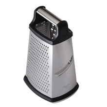 cheese stainless steel grater with container 4 sides