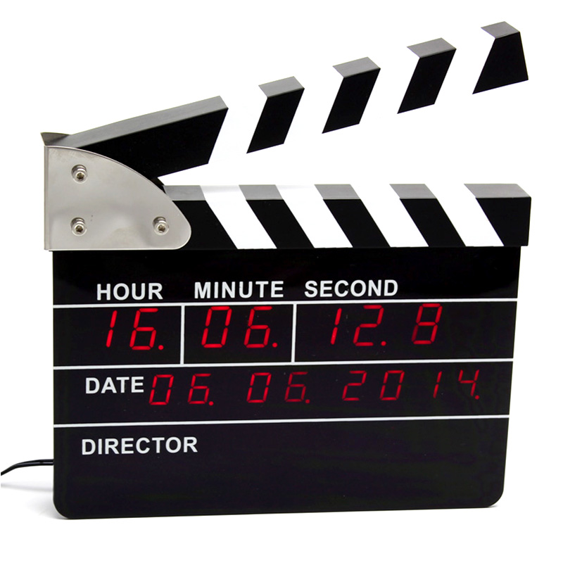 Movie Clap Clock