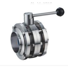Sanitary Double Live Connection Butterfly Valve