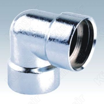 Polished Chrome Elbow Pipe Fitting
