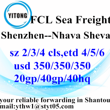 Shenzhen Sea Freight Shipping Services to Nhava Sheva