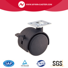30mm PA Top Plate Furniture Caster With Brake