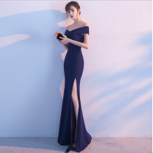 long style of the tail host dress gown