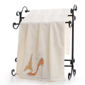 Customized Bath Towels with Effiel High-heeled Shoes Pattern