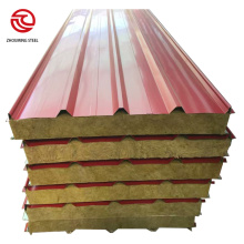 cheap price 100kgm3 rockwool insulation sandwich panel