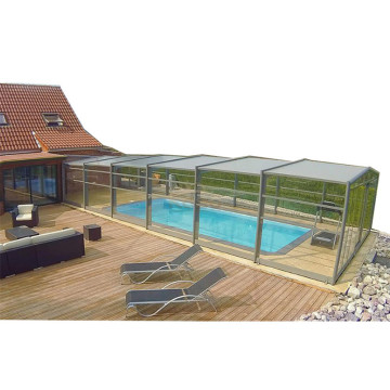 Retractable Load Bearing Swimming Pool Cover Polycarbonate