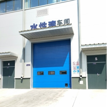 High speed garage sectional door