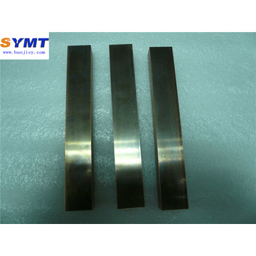 grey metallic lustre tungsten rectangular bar