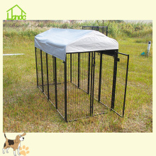 Top for Wire Dog Kennel Durable Square Black Outdoor Dog Kennel supply to Senegal Factory