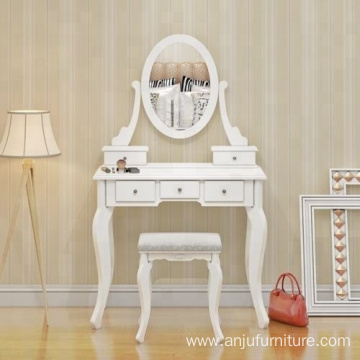 Wooden Dressing Table Make Up Desk with Stool