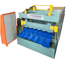 Glazed steel tile forming machine