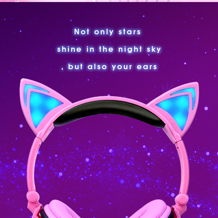 cat ear headphones earphone