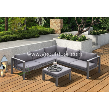 Aluminum patio garden furniture sofa