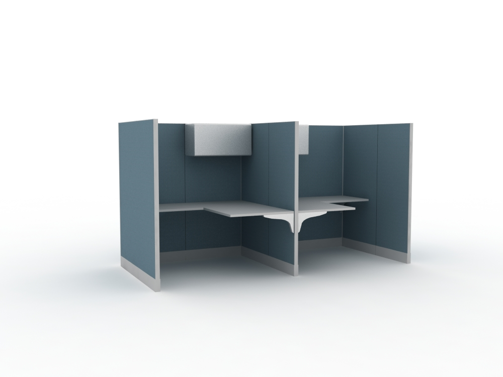 Aluminum office table partition with standard size