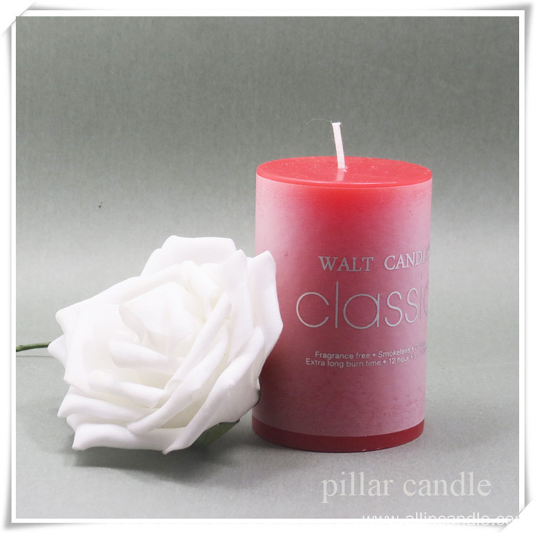 Luxury unscented pillar candles with designs wholesale