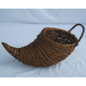 Weaving Rattan Cornucopia Flower Pot