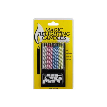 Bougies de gâteau d'anniversaire Magic Relighting pour Party Deco
