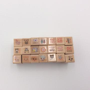 customized wooden stamp set