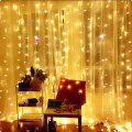 USB Warm White Led Curtain String Lights