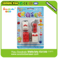 Car shaped Eraser blister cards packag eraser