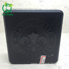 Square black storage tin