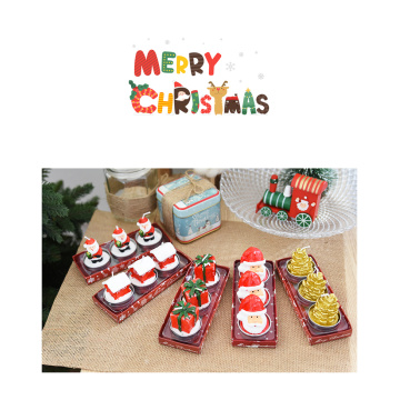 Christmas Eve Santa Claus shape candle home decorative