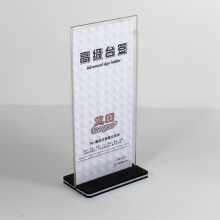 Clear Acrylic Desktop Sign Holder Acrylic Display Stand