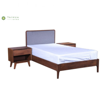 Modern Home and Hotel Single Bed Fabric Headboard