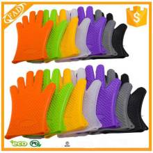 Heat resistant silicone cooking gloves bbq silicone gloves