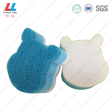 Bear style sponge scouring cleaning pad