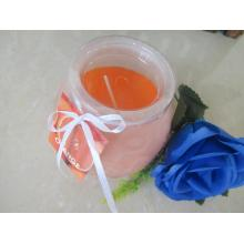 Long-lasting Orange Frosted Glass Candle