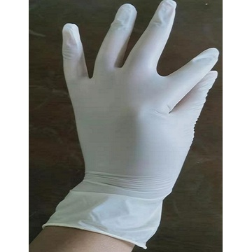 Yellow medical vinyl glove