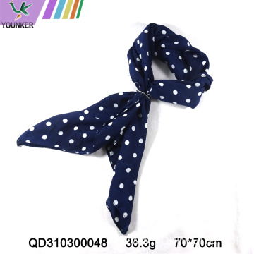 BLACK DOT PRINTING SATIN SCARF