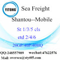 Shantou Port Sea Freight Shipping To Mobile