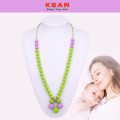 Safe silicone beaded necklace for baby teething
