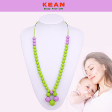 Hot selling attractive price for Hexagon Silicone Baby Teething Necklace Safe silicone beaded necklace for baby teething supply to United States Factories