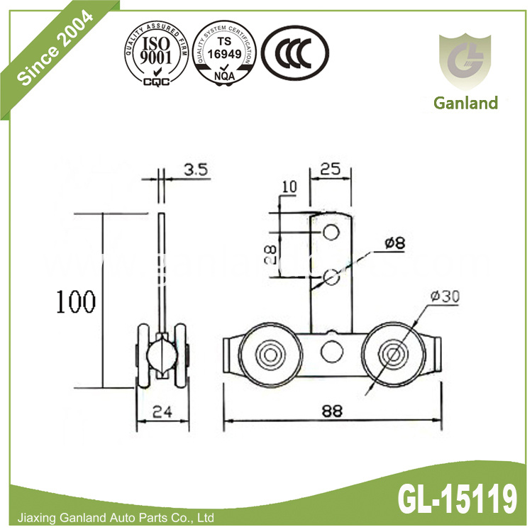Bar type double roller gl-15119
