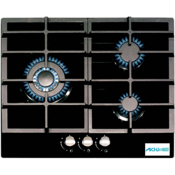 Gas Hob With Glass Top 3 Burner