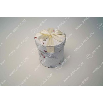 Nylon Ribbon Printing Cylindrical Gift Box