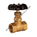 Red manuel brass stop valve