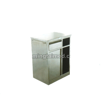 Stainless steel bedside cabinet for clinic