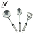 3 Piece Stainless Steel Cooking Utensil Set